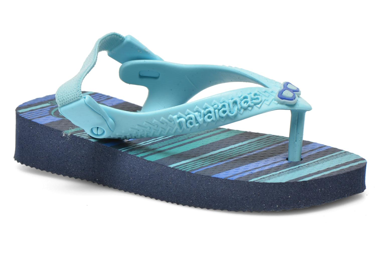Flip flops Havaianas Baby chic Blue detailed view/ Pair view