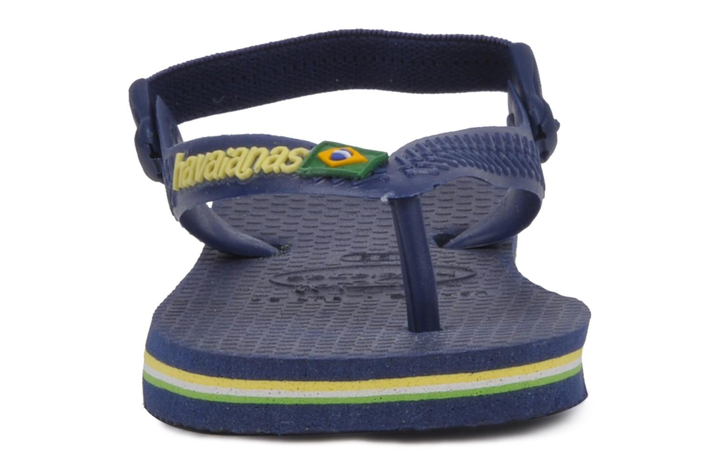 Baby Brasil Logo Navy Yellow