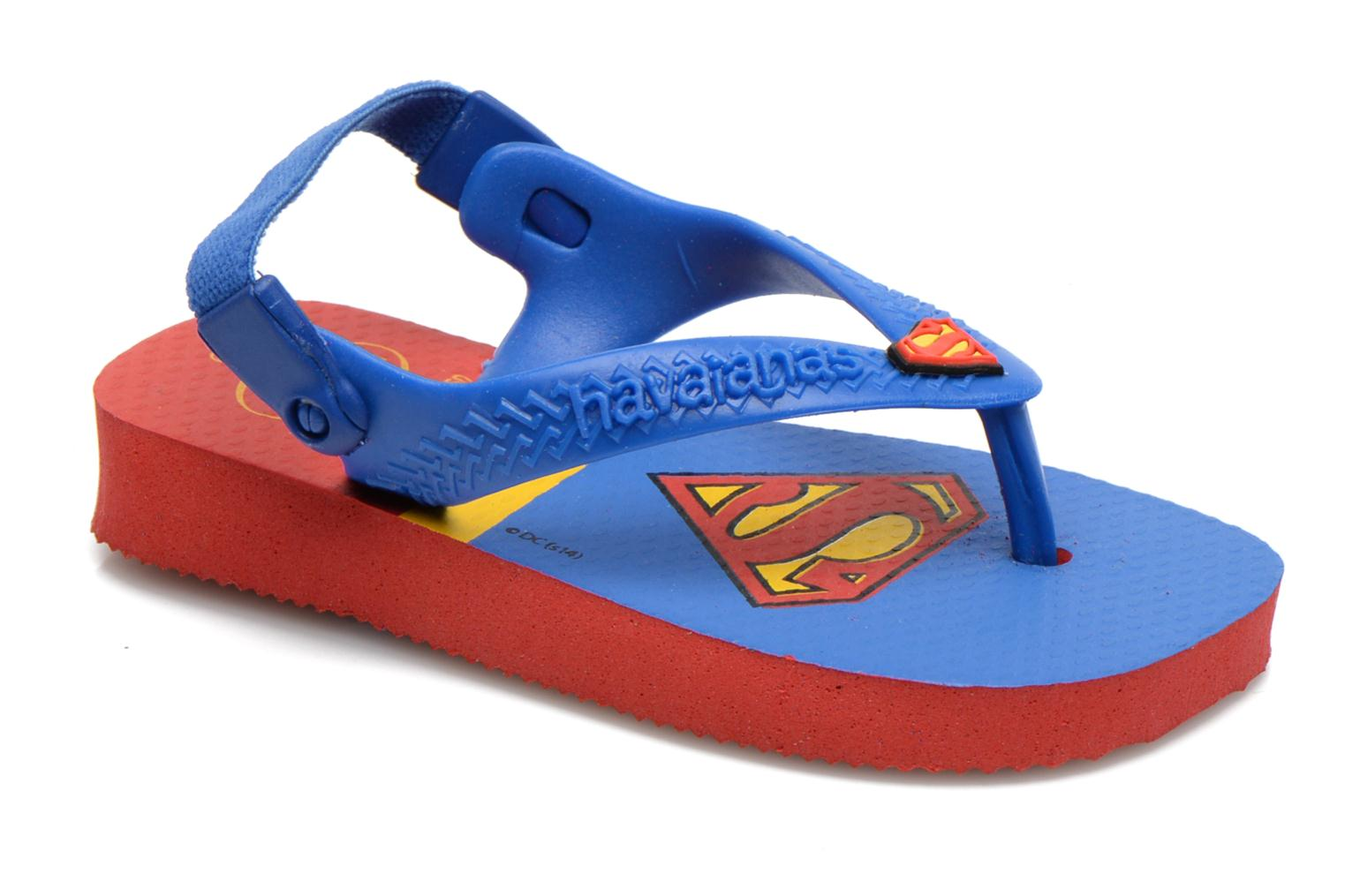 Tongs Havaianas Baby Heroes Rouge vue détail/paire