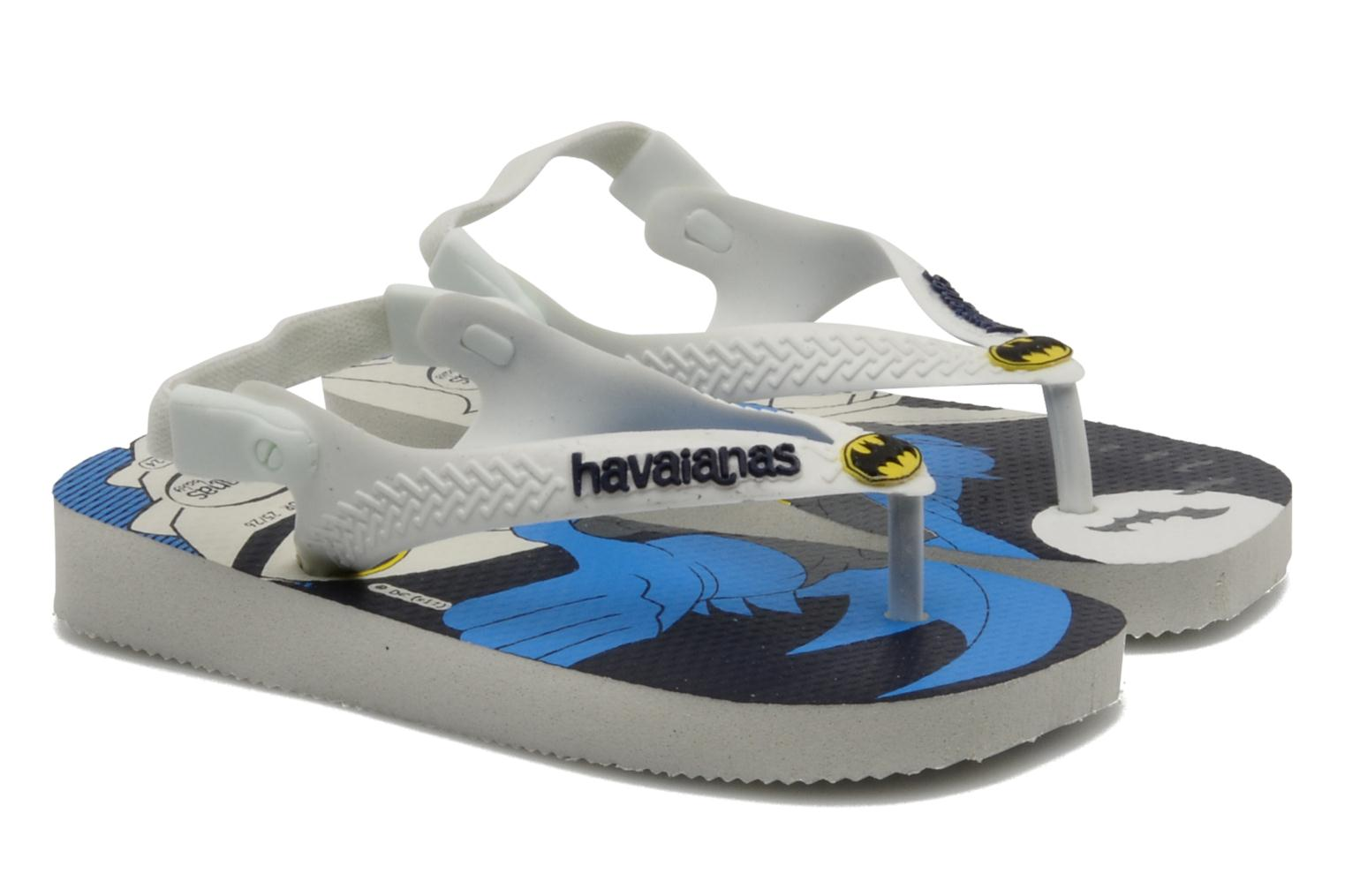 Tongs Havaianas Baby Heroes Blanc vue détail/paire