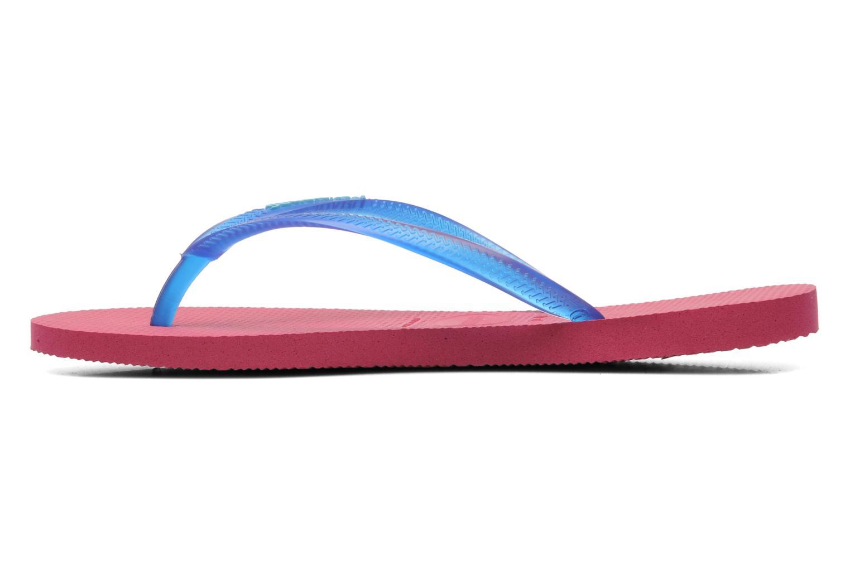 Slippers Havaianas Slim logo femme Blauw voorkant