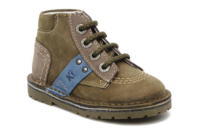 Stiefeletten & Boots Kickers Little grün detaillierte ansicht/modell