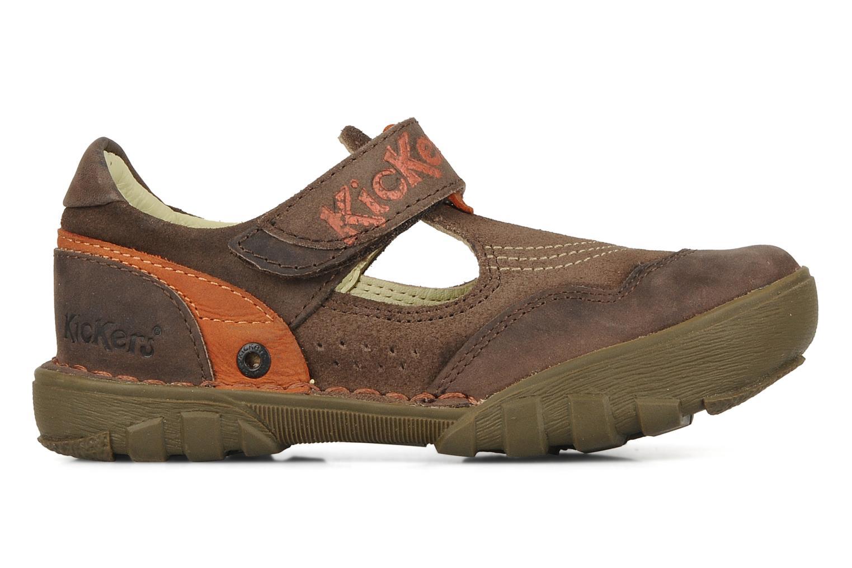 Sandales et nu-pieds Kickers Racky Marron vue derrière