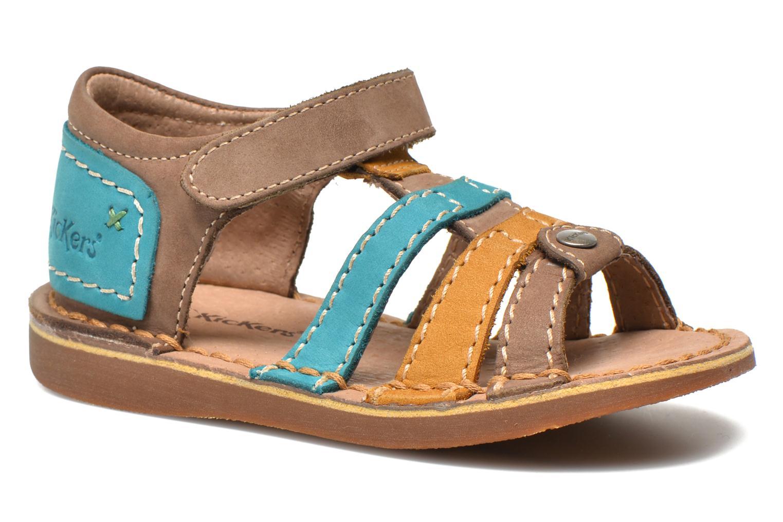Chaussures Kickers Woopy turquoise pour bébé nVPUj