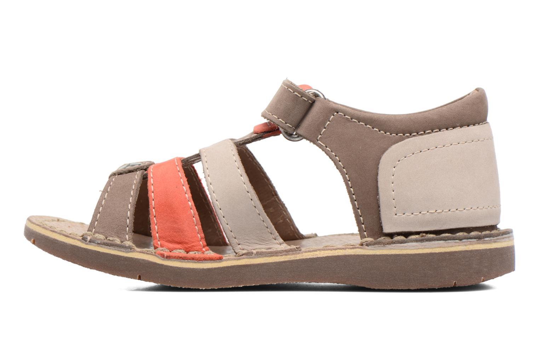 Sandales et nu-pieds Kickers Woopy Marron vue face
