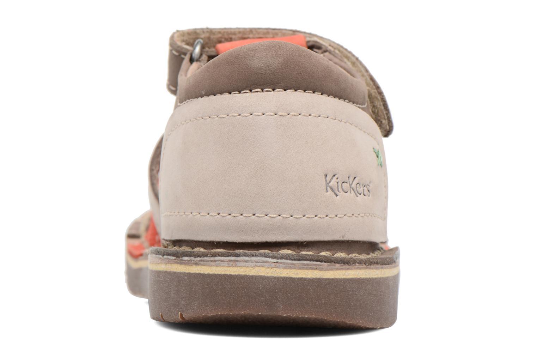 Sandaler Kickers Woopy Brun Se fra højre