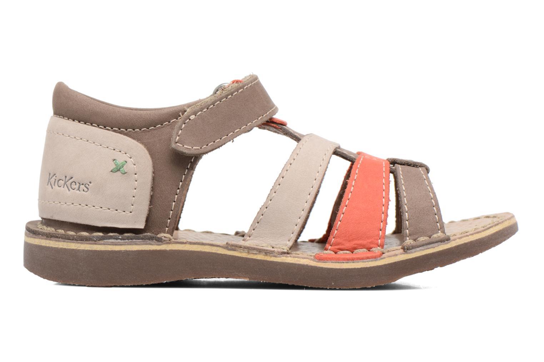 Sandales et nu-pieds Kickers Woopy Marron vue derrière