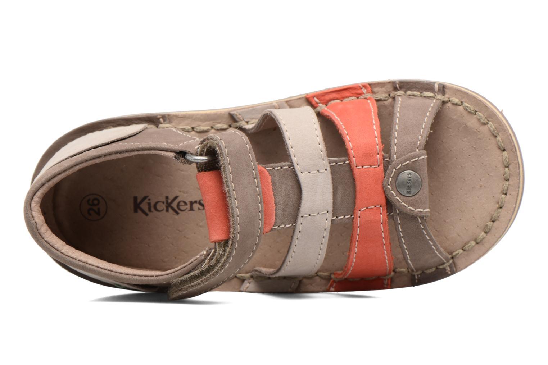 Sandales et nu-pieds Kickers Woopy Marron vue gauche
