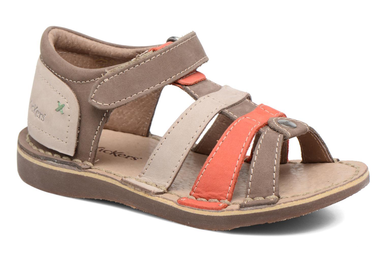 Sandales et nu-pieds Kickers Woopy Marron vue détail/paire