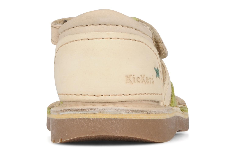 Sandales et nu-pieds Kickers Woopy Beige vue droite