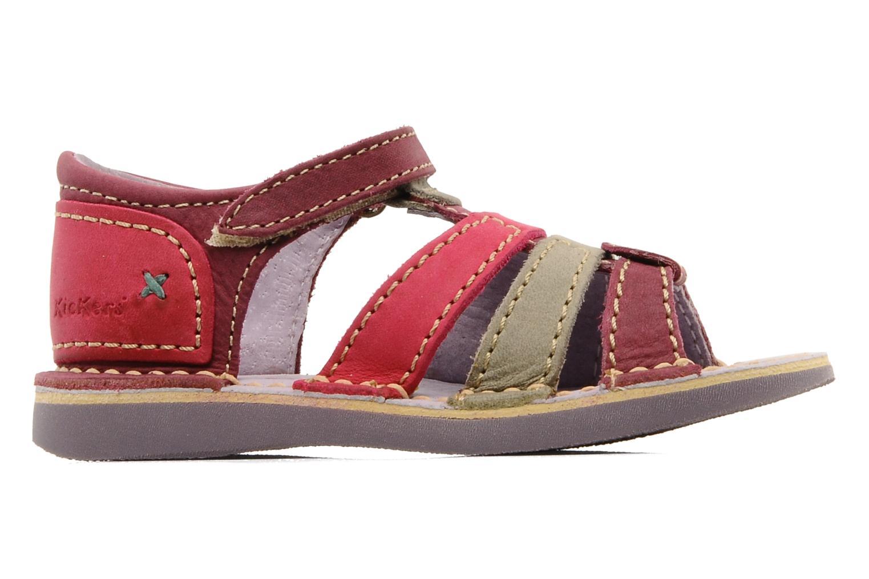 Sandales et nu-pieds Kickers Woopy Violet vue derrière