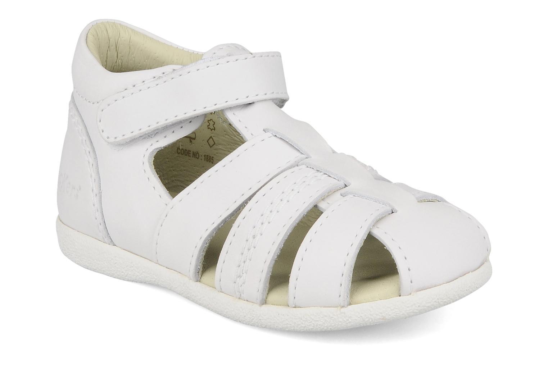 Sandales et nu-pieds Kickers Babysun Blanc vue détail/paire