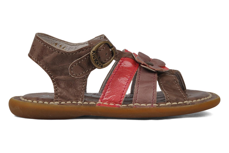 Sandales et nu-pieds Kickers Milki Marron vue derrière