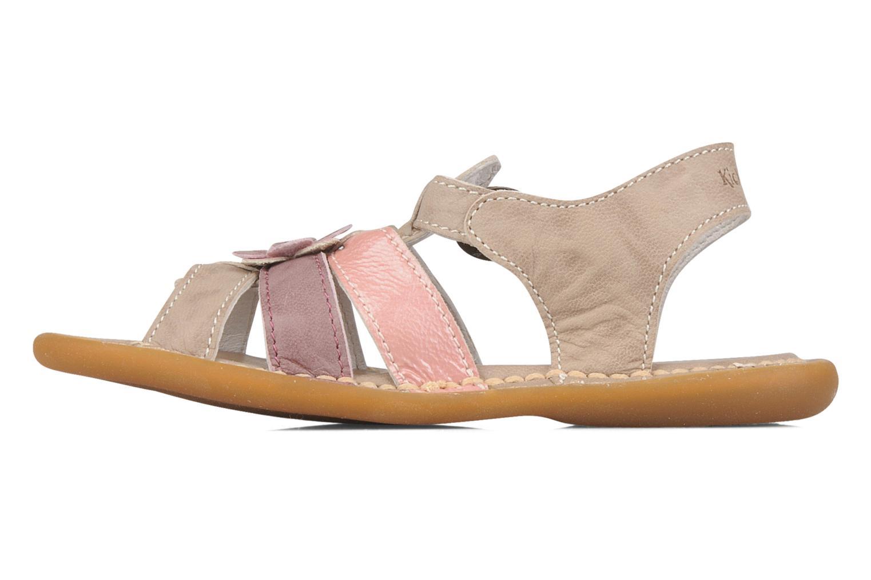 Sandales et nu-pieds Kickers Milki Beige vue face