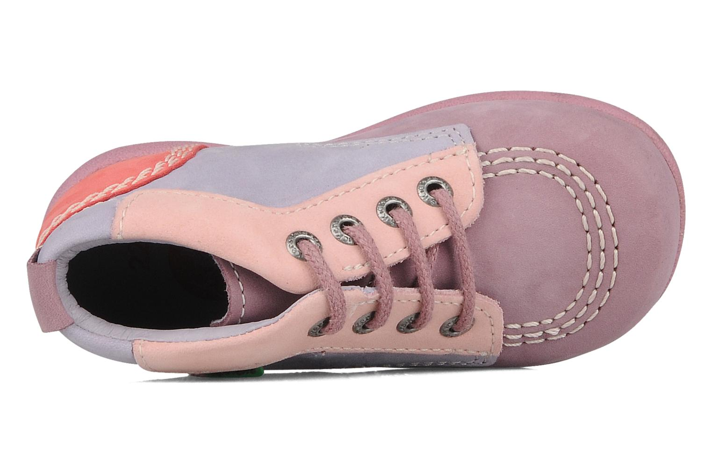 Stiefeletten & Boots Kickers Babystart lila ansicht von links