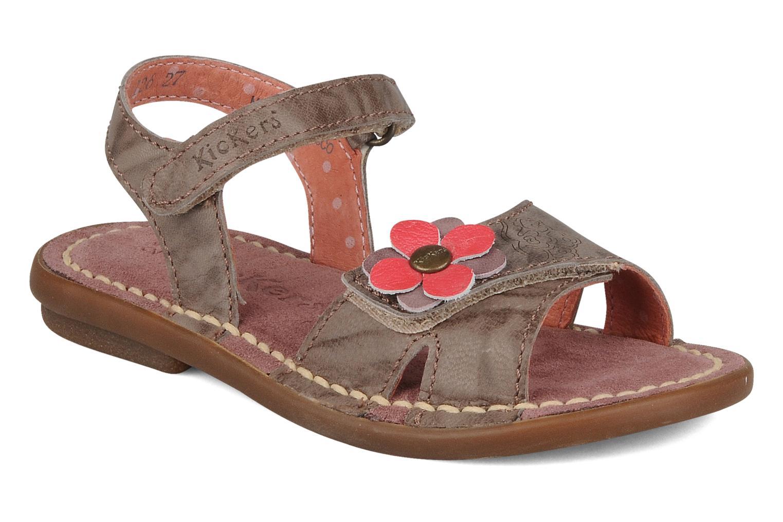 Sandales et nu-pieds Kickers Monday Marron vue détail/paire