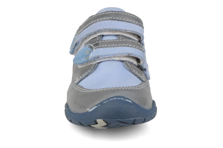 Chaussures à scratch Kickers Spred Bleu vue portées chaussures