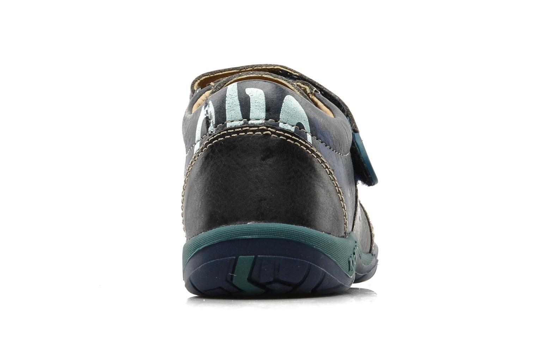 Chaussures à scratch Kickers Spred Bleu vue droite