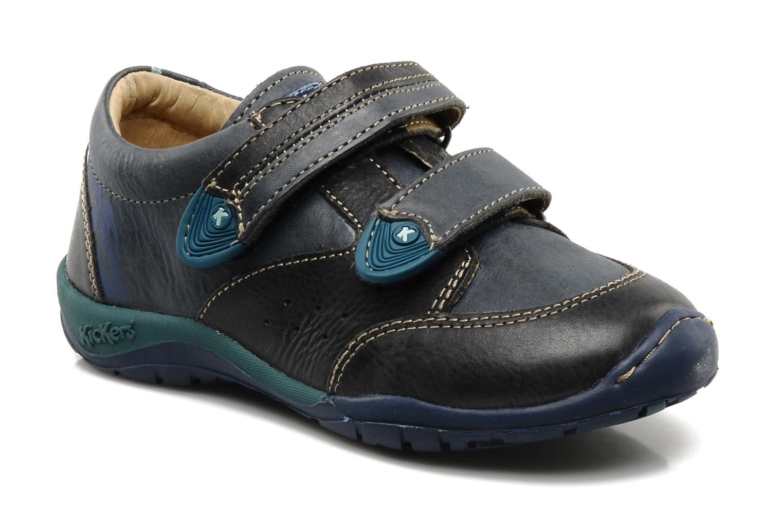 Schoenen met klitteband Kickers Spred Blauw detail