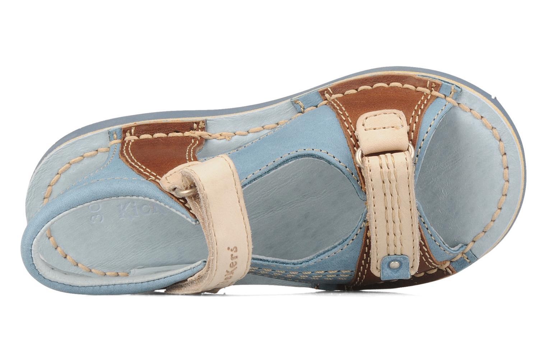 Sandales et nu-pieds Kickers Woaza Bleu vue gauche
