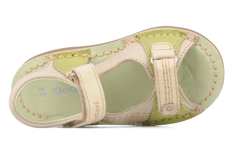 Sandales et nu-pieds Kickers Woaza Vert vue gauche