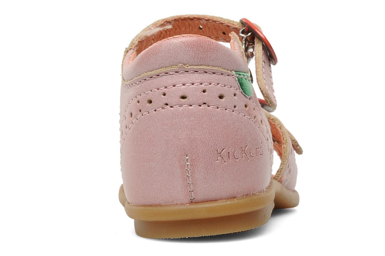 Sandales et nu-pieds Kickers Stella Rose vue droite