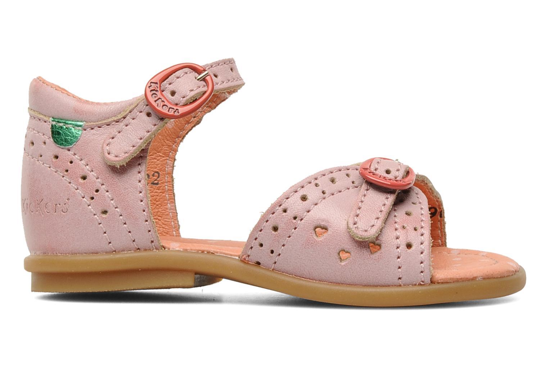 Sandales et nu-pieds Kickers Stella Rose vue derrière