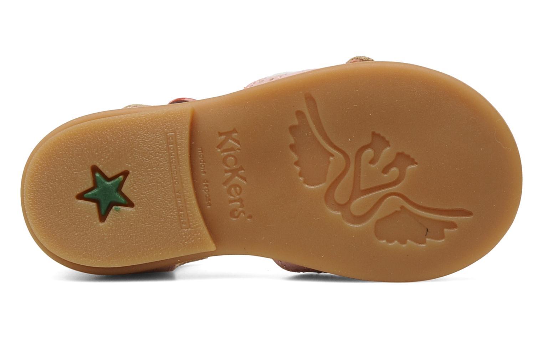 Sandales et nu-pieds Kickers Stella Rose vue haut
