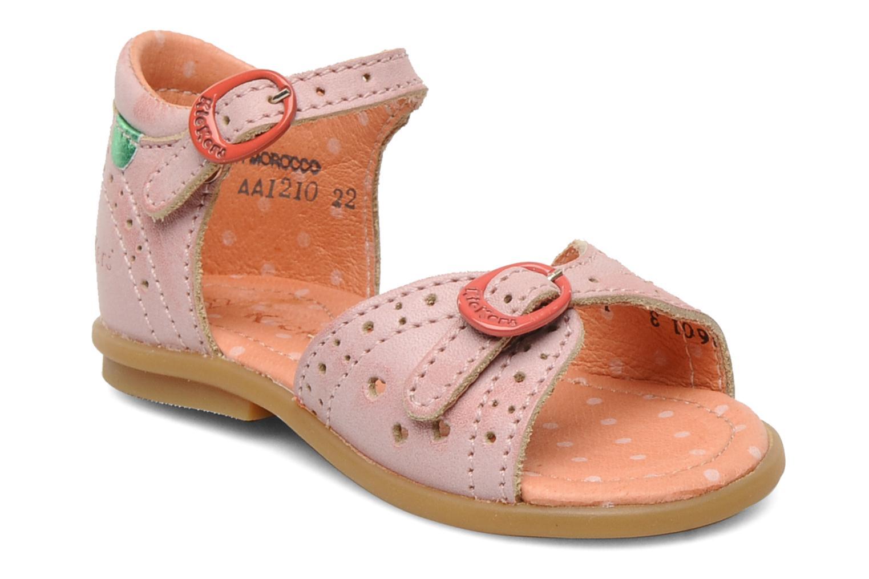 Sandales et nu-pieds Kickers Stella Rose vue détail/paire