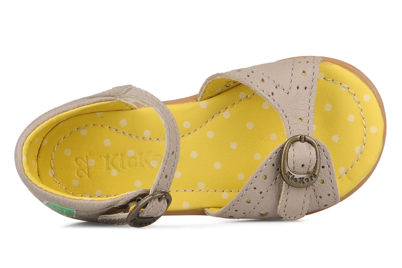 Sandales et nu-pieds Kickers Stella Gris vue gauche
