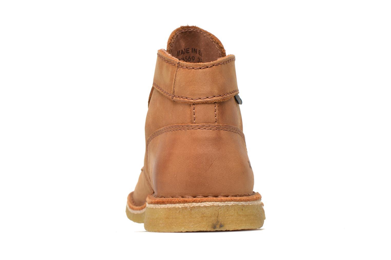 Zapatos con cordones Kickers Kick legend Beige vista lateral derecha