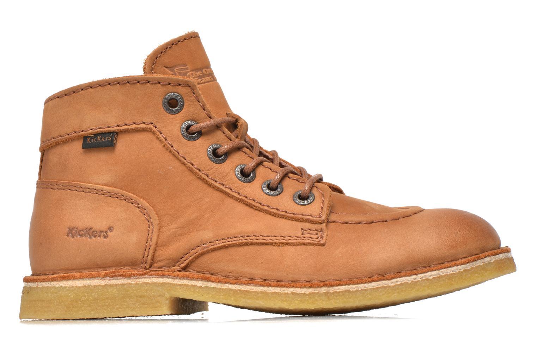 Zapatos con cordones Kickers Kick legend Beige vistra trasera