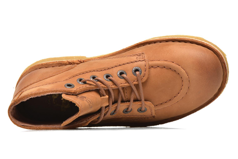 Zapatos con cordones Kickers Kick legend Beige vista lateral izquierda