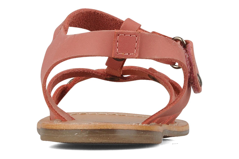 Sandales et nu-pieds Kickers Dialecta Rose vue droite