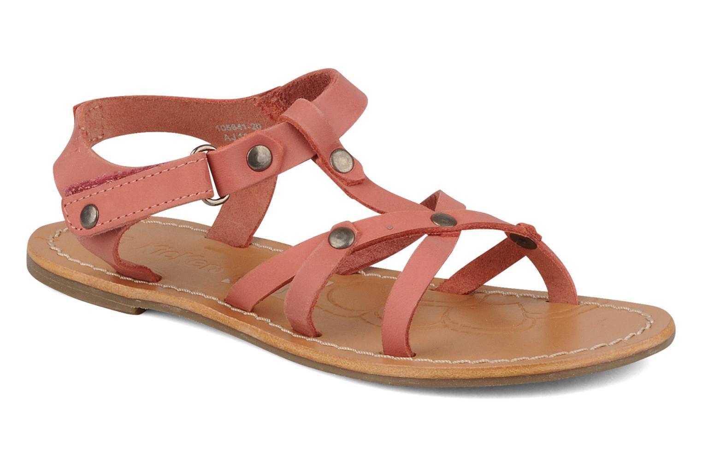 Sandales et nu-pieds Kickers Dialecta Rose vue détail/paire