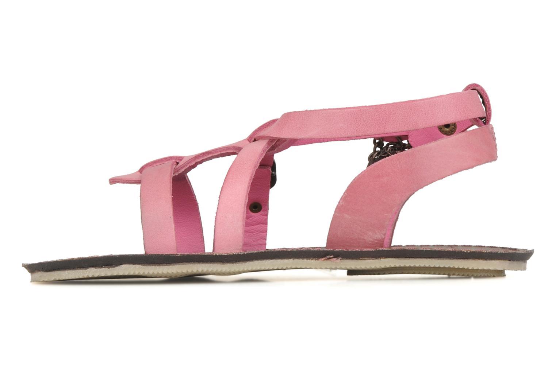 Sandalen Kickers Lioumi rosa ansicht von vorne