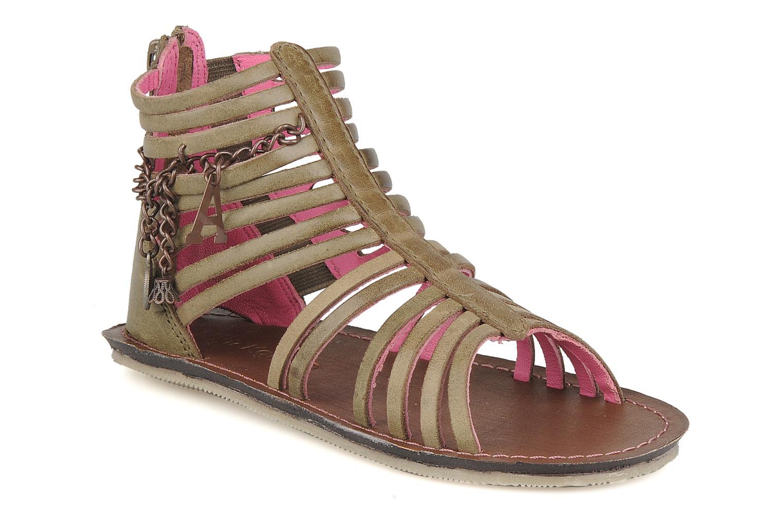 Sandales et nu-pieds Kickers Lilou Vert vue détail/paire