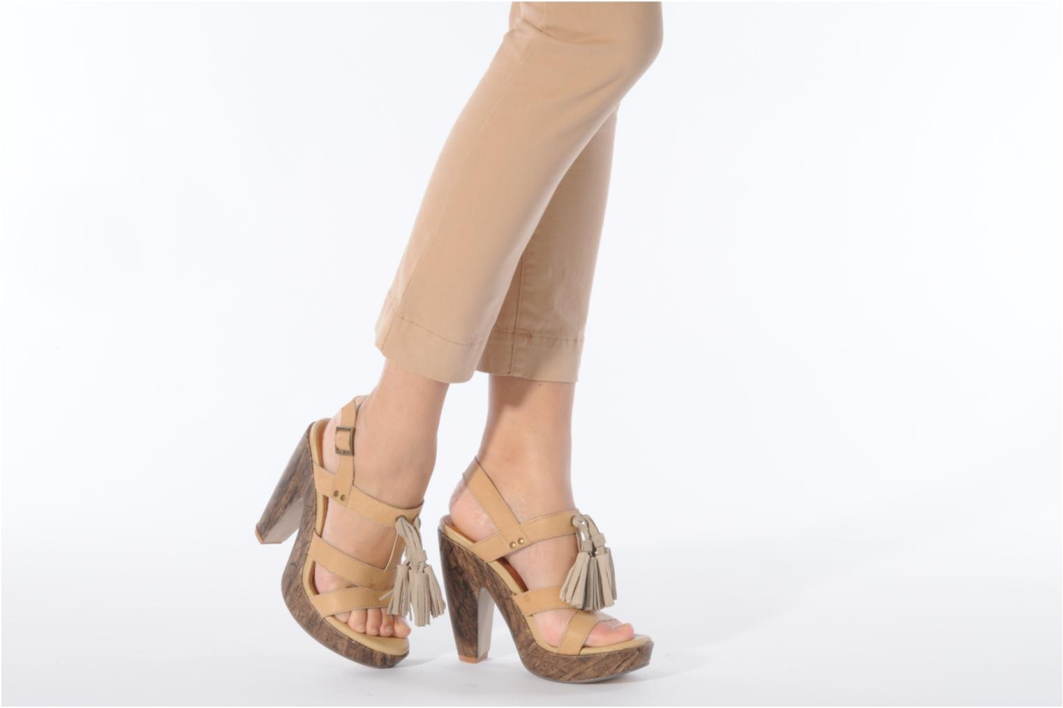 Sandals Friis & company Zenika Beige view from underneath / model view