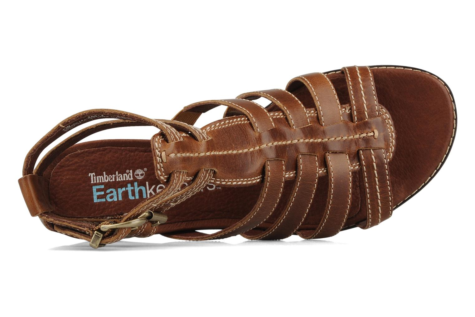 Sandales et nu-pieds Timberland Earthkeepers kennebunk braided gladiator Marron vue gauche