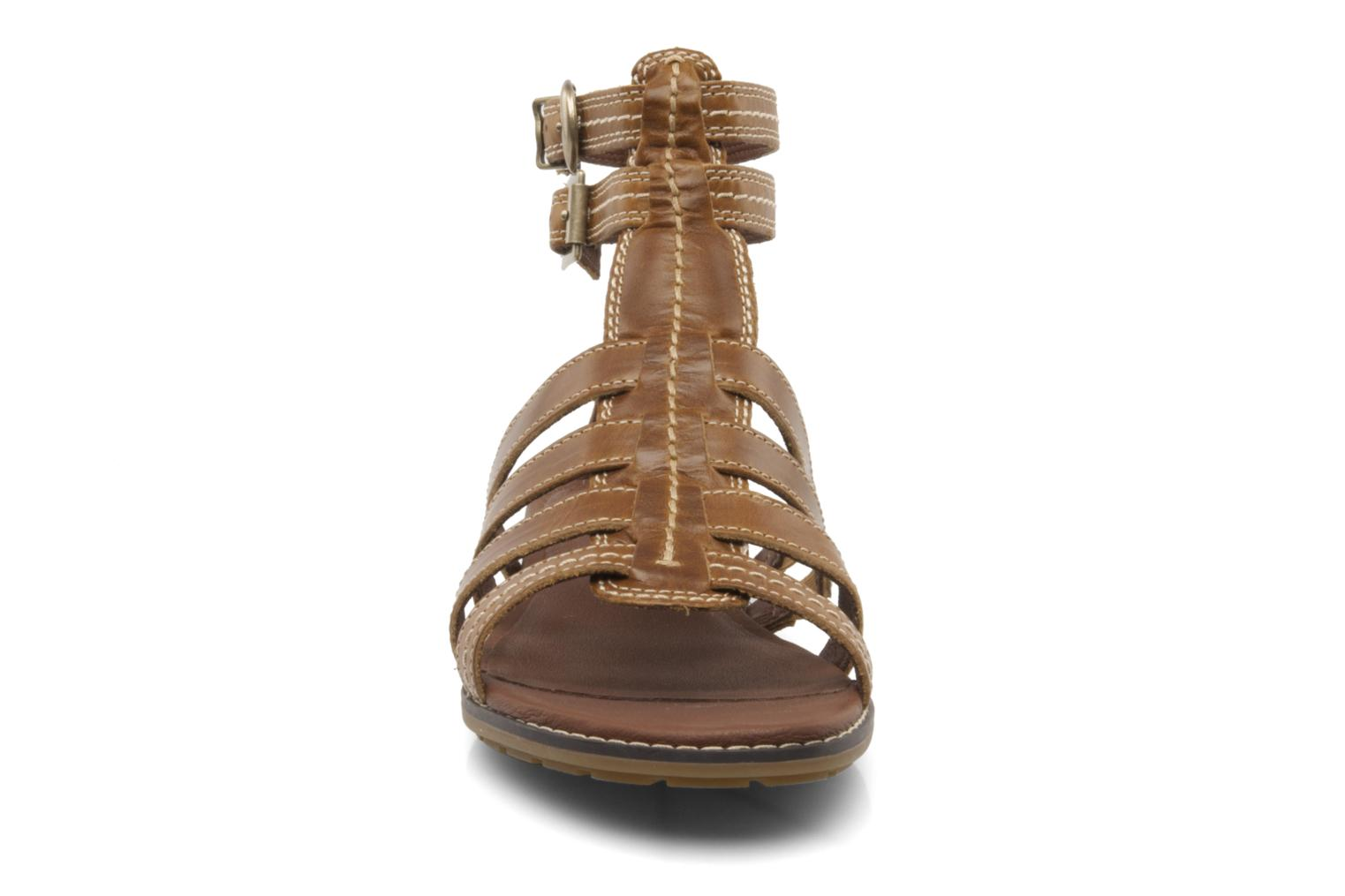 Sandales et nu-pieds Timberland Earthkeepers kennebunk braided gladiator Marron vue portées chaussures