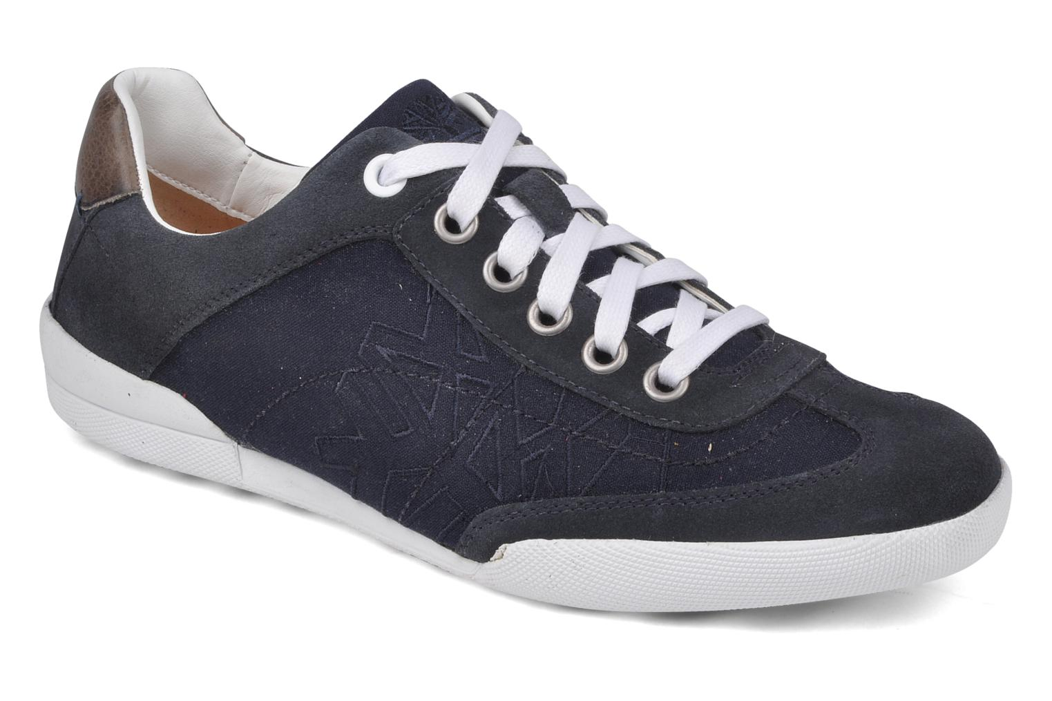 City adventure split cup sole Navy canvas suede