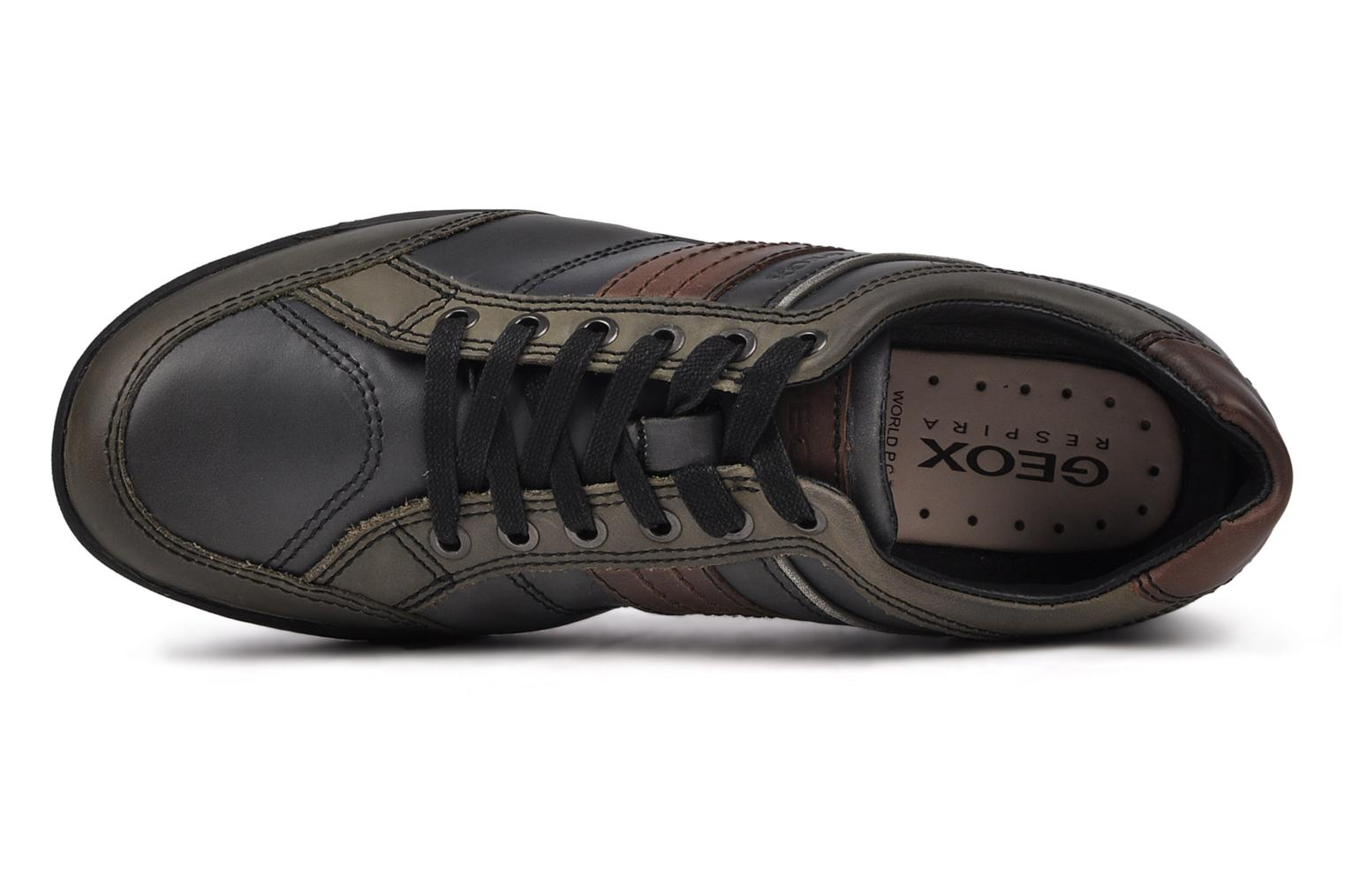 Trainers Geox U italo n Green view from the left