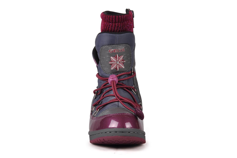 Bottines et boots Geox J glitter wp b Gris vue portées chaussures