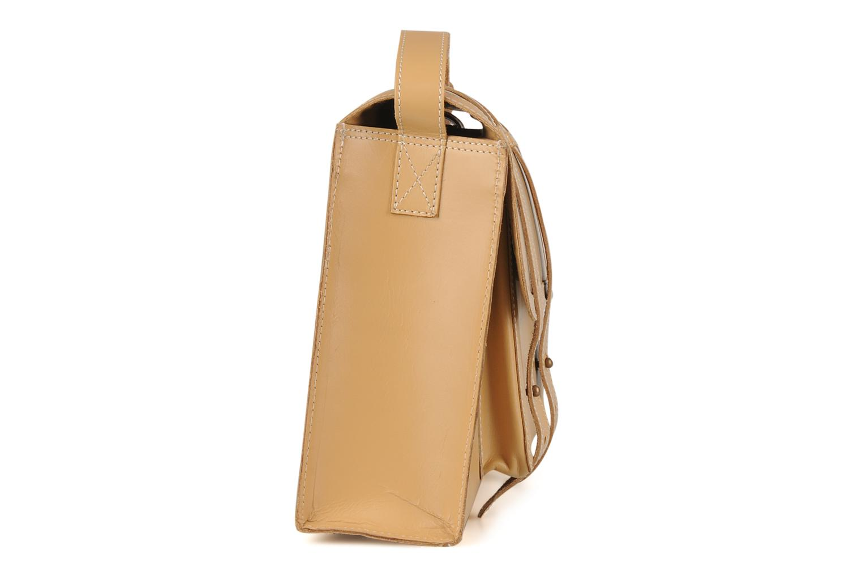 Handbags Friis & company Fold leather bag Beige model view