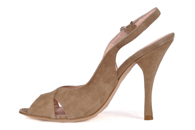Sandales et nu-pieds Manas Pulino Beige vue face