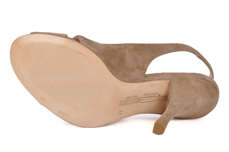 Sandales et nu-pieds Manas Pulino Beige vue haut