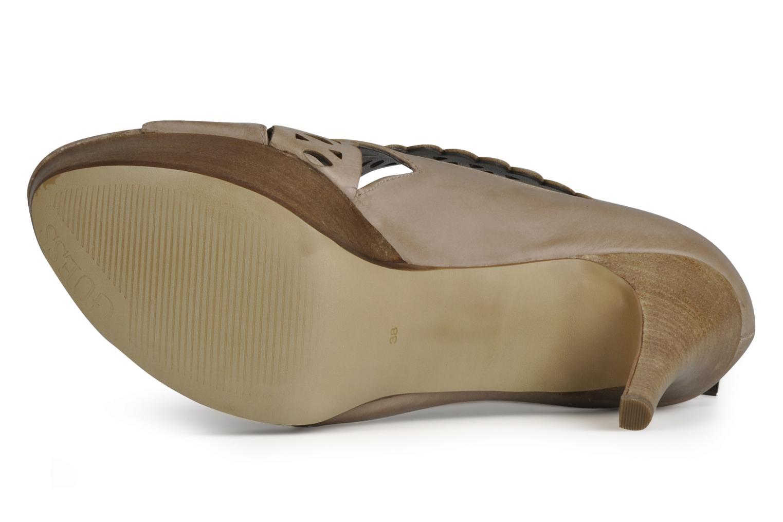 Sandales et nu-pieds Guess Ost Beige vue haut