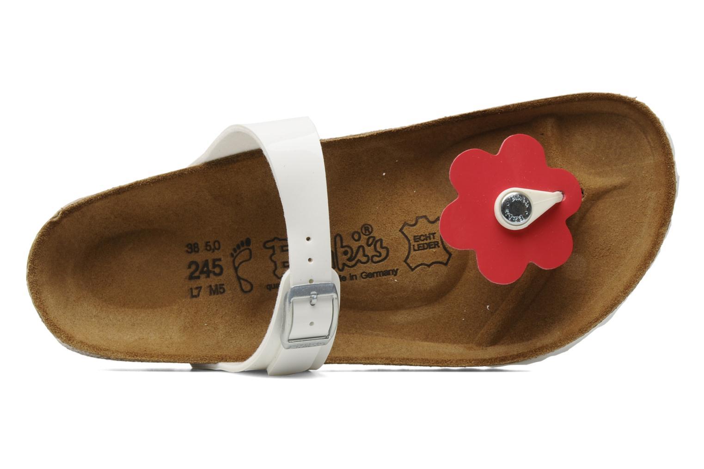 Slippers Birki's Fleur flor w Wit links