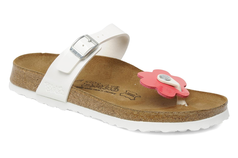 Slippers Birki's Fleur flor w Wit detail