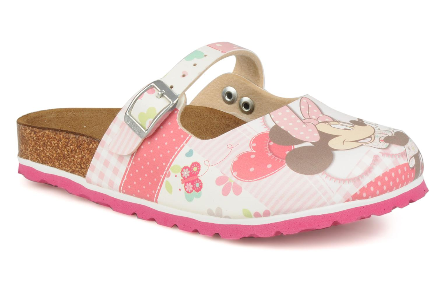 Sandals Birki's Maria flor e Pink detailed view/ Pair view